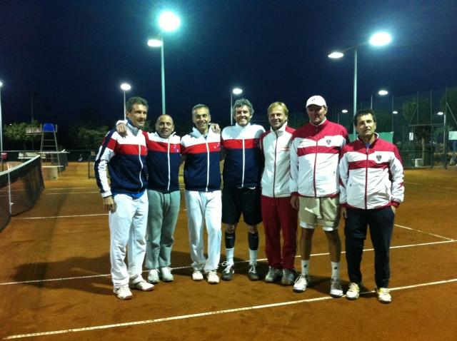 avec l'équipe d'Autriche