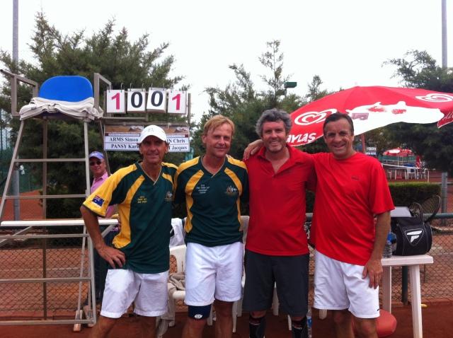 la finale contre l'équipe Autriche- Australie Karl Pansy - Simon Arms
